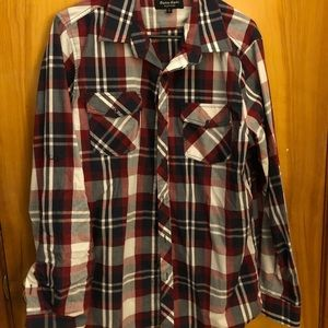 Tops - Red, White, and Blue flannel